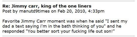 carr bath joke